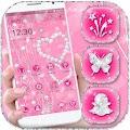 Free Love Pink Diamond Heart Theme APK for Windows 8