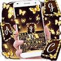 Free Gold Butterfly Keyboard Theme APK for Windows 8