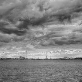 by Luke Walker - Landscapes Weather ( water, hdr, black and white, sunset, cloudscape )