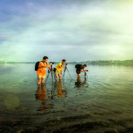 Photographers by Ferdinand Ludo - People Group/Corporate ( 3 photographers, documentation, cordoba, mactan island, landscape )