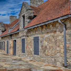 Fort Ticonderoga by Debbie Quick - Buildings & Architecture Other Exteriors ( stone building, debbie quick, exteriors, adirondacks, outdoor photography, debs creative images, new york, building, stone, outdoors, ticonderoga, fort ticonderoga, fort, architecture )