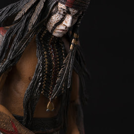 Deep in Thought (Color Version) by Gerald Glaza - Artistic Objects Toys ( lone ranger, action figure, tonto, toys, disney )