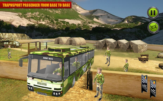 US Army Coach Bus Simulation apk screenshot