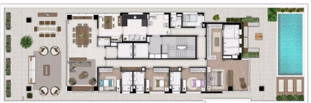 Planta do Maison 21 - 544 m²