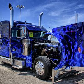 Peterbilt by Ray Ebersole - Transportation Other ( 35th, tulsa, shell rotella, truck, super-rig, semi-truck, ok )