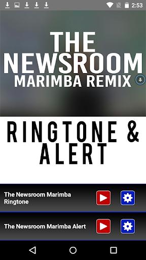 The Newsroom Theme Marimba - screenshot
