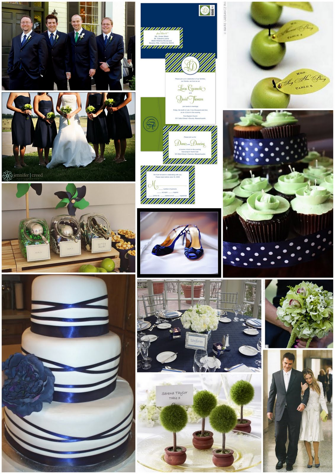 blue and green wedding