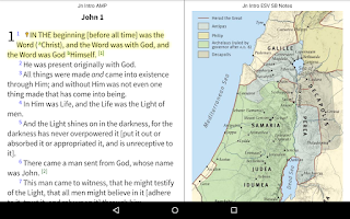 Screenshot of Amplified Bible+ by Olive Tree