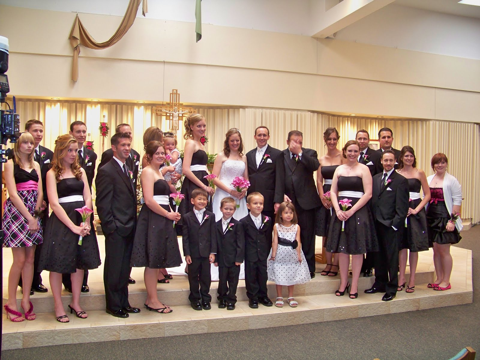 The entire bridal party