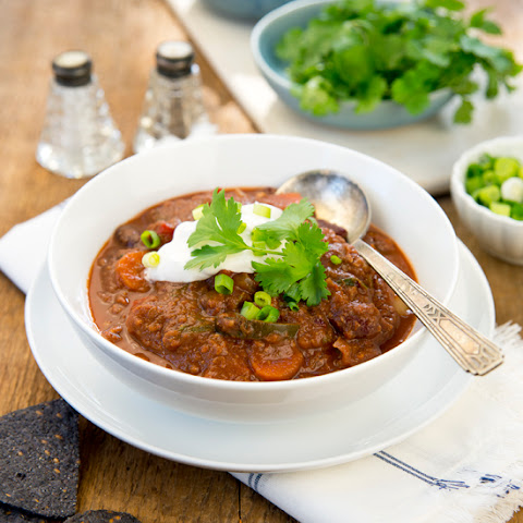 Hot & Spicy Vegan Chili With Lentil-walnut Meat