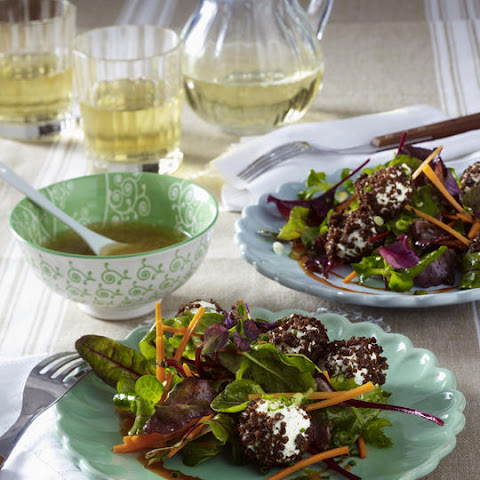 Mixed Greens with Rye Crusted Cheese Balls