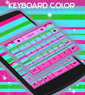 GO Keyboard Color Stripes - screenshot