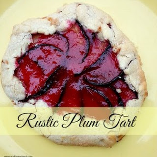A Delicious Summer Fruit Dessert - Rustic Plum Tart