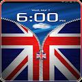 Download UK Flag Zipper Lock Free APK to PC