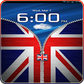 UK Flag Zipper Lock Free APK for Bluestacks