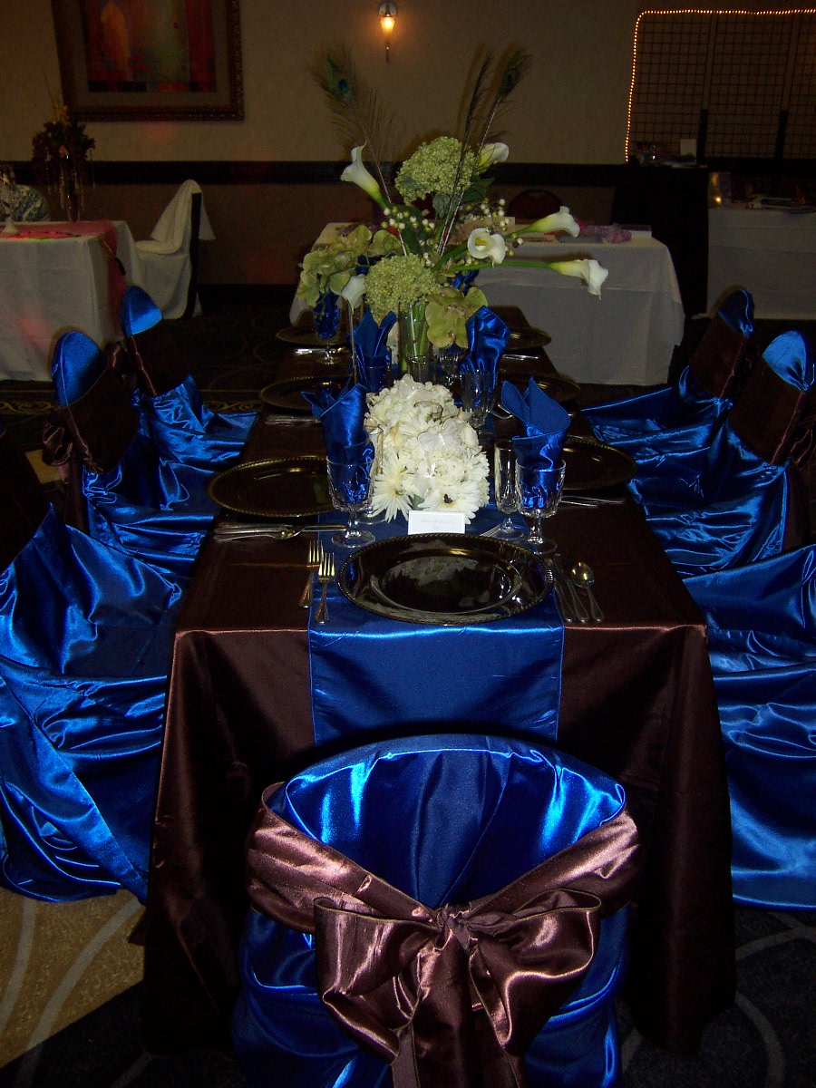 blue wedding decorations