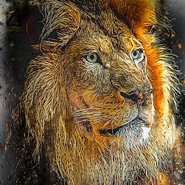 by Ron Meyers - Digital Art Animals