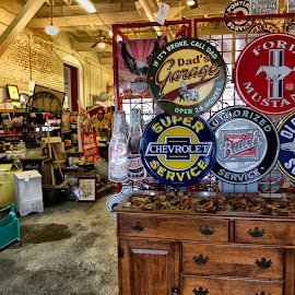 Wally's Filling Station by Alan Roseman - Artistic Objects Antiques ( selma, north carolina, antiques )