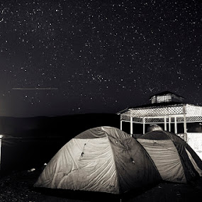 Night at Uchali Lake by XeeShan Ch - Landscapes Starscapes ( pakistan, stars, soon valley, xeeshan, night, long exposure, uchali lake )