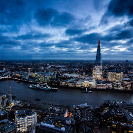 London at Night by Chris James - City,  Street & Park  Skylines ( #skygarden, #london, #shard, #night, #fenchurch )