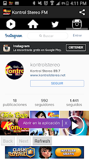 Kontrol Stereo FM - screenshot