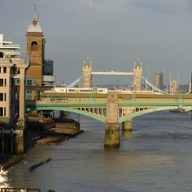 Thames river by Elizabeth O - Buildings & Architecture Bridges & Suspended Structures