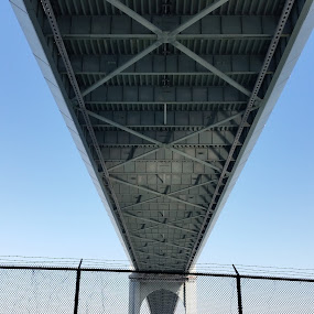 Under the Whitestone Bridge NY by Chris Gray - Buildings & Architecture Bridges & Suspended Structures ( new york, morning, bridges, structures, river,  )