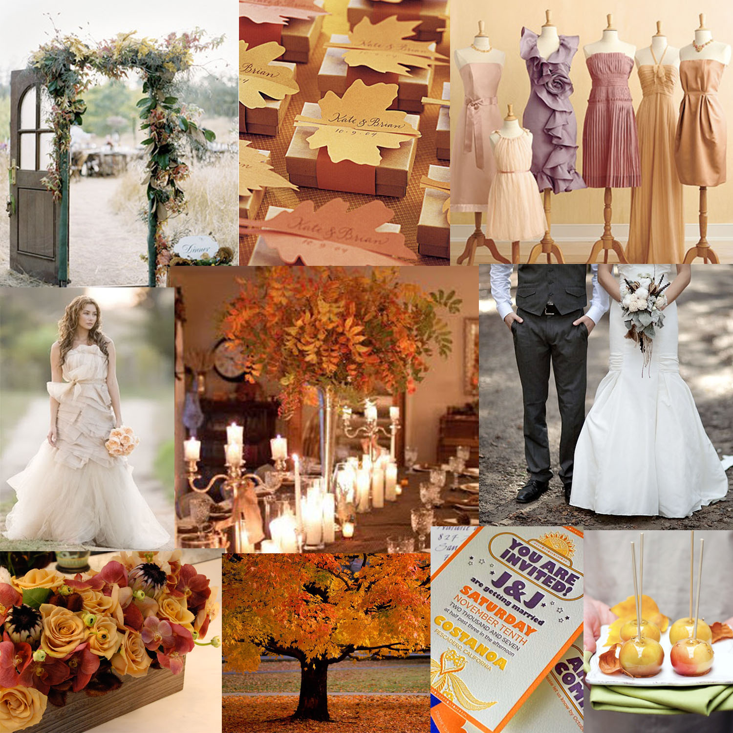 Nancees Blog Fall Wedding Centerpieces On A