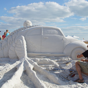 Half volkswagon half aligator by Sandra Cannon - Artistic Objects Other Objects