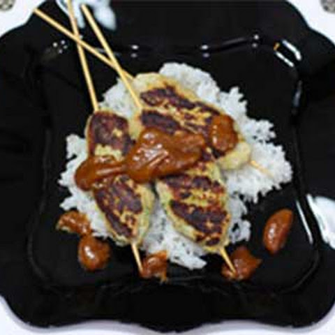 Bangus Kebobs with Peanut Sauce