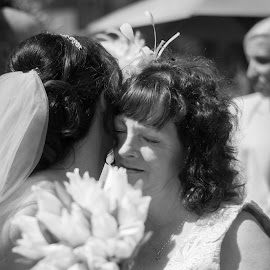 Mother of the bride by Vix Paine - Wedding Other ( blackandwhite, mother of the bride, justmarried, wedding, motherofthebride, memories, marriage, bride,  )