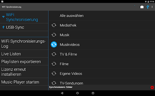 iSyncr: iTunes auf Android Screenshot