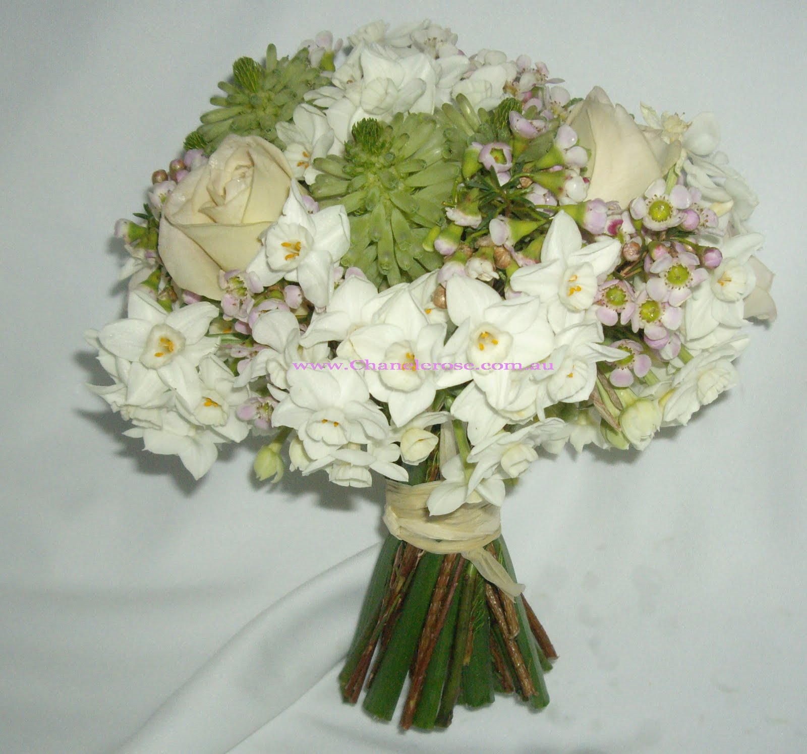 Jonquil posy bouquet wedding