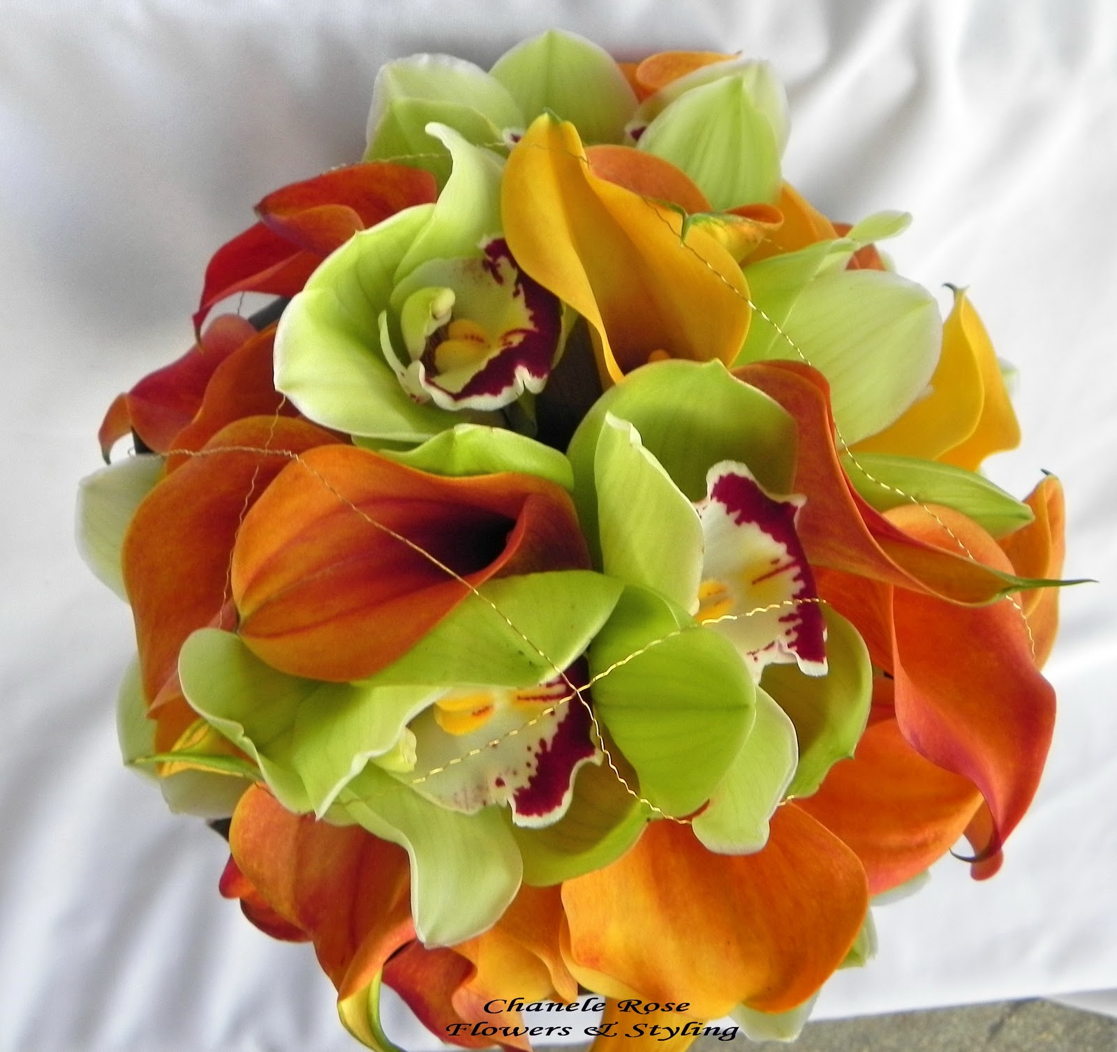 and green wedding flowers