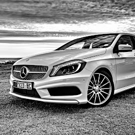 Mercedes-Benz AMG by Robert McDougall - Transportation Automobiles ( car, b&w, black and white, amg, mercedes-benz )