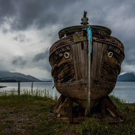 Beached by Deb Dicker - Landscapes Travel ( shore, nature, alaska, travel, transportation, landscape, boat )