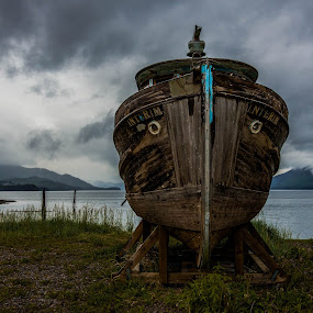 Beached by Deb Dicker - Landscapes Travel ( shore, nature, alaska, travel, transportation, landscape, boat,  )