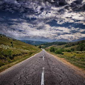 Road to Nowhere by Pavle Randjelovic - Landscapes Cloud Formations ( pwcotherworldly )