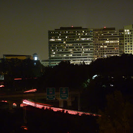 North Atlanta by Rich Hooper - City,  Street & Park  Night ( street lights, cityscape, atlanta, nightscapes, traffic )