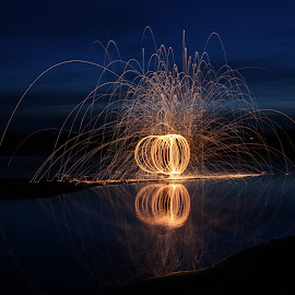 Fireball by Raea Gooding - Abstract Light Painting ( steel wool )