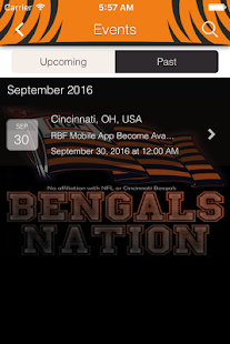RBF Real Bengals Fan - screenshot