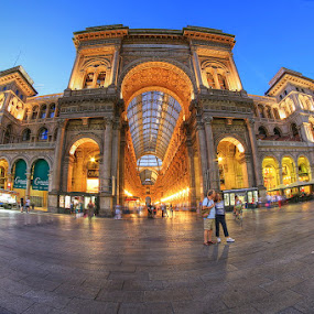 Gallery by Luca Libralato - Buildings & Architecture Statues & Monuments ( milan, gallery, galleria, galleria vittorio emanuele, piazza duomo, italy, milano, city, night )