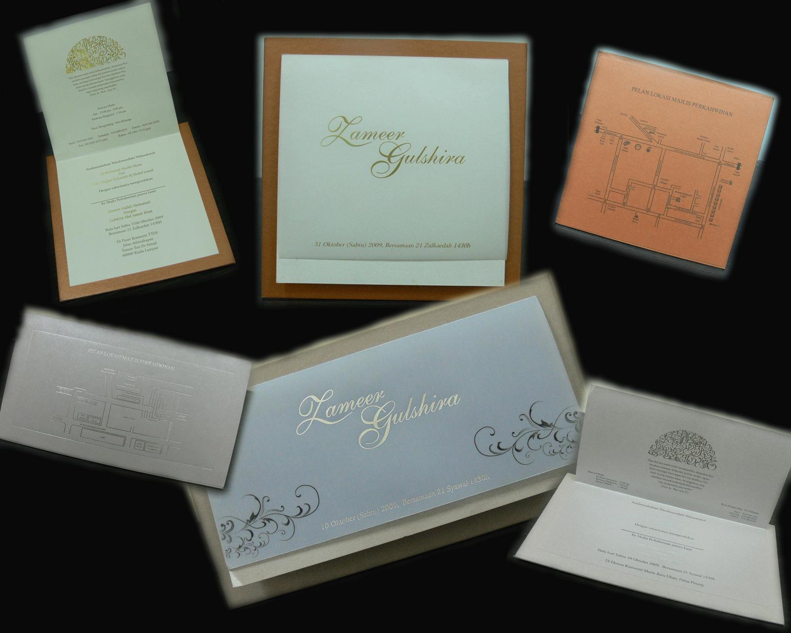 creative wedding invitation