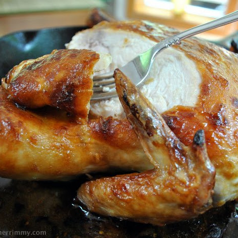 Roasted Chicken with Asian Sauce