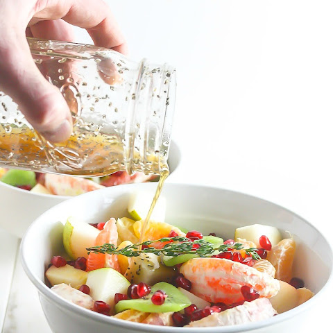 Winter Fruit Salad with Ginger Chia Dressing
