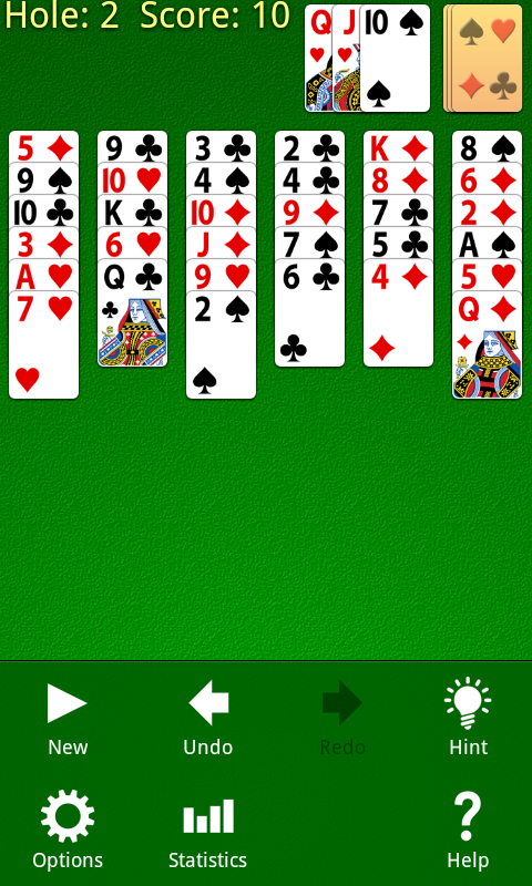 Golf Solitaire Screenshot 1