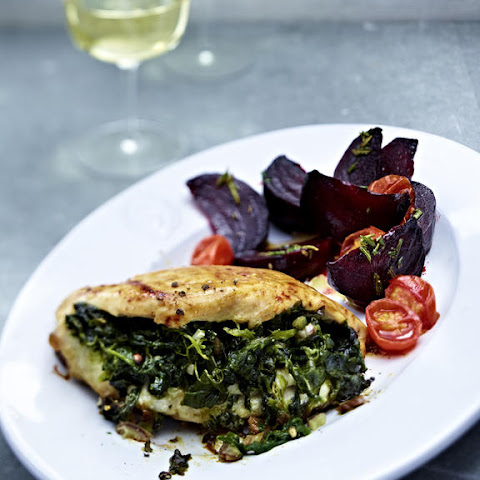 Spinach and Date Stuffed Chicken