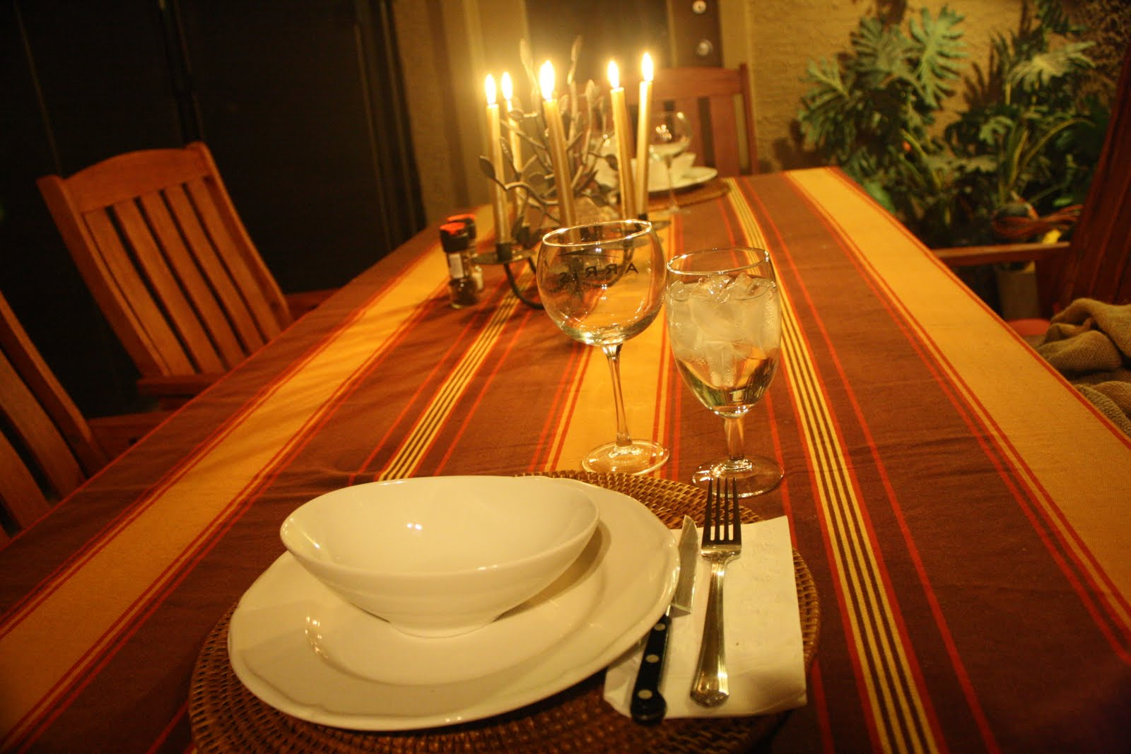 Here is our romantic table