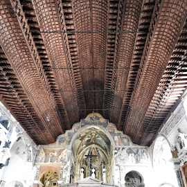 Cieling of St. Fermo Church in Verona by Patrizia Emiliani - Buildings & Architecture Places of Worship ( cieling, st.fermo church, verona, italy )