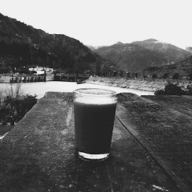 Mountain N tea by Nikhil Singla - Landscapes Travel ( picoftheday, mountains, mountain, nature, black and white, bestoftheday, photographer, weather, like, bnw, tea, photography, photooftheday, follow )
